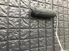 横浜市港北区G様邸外壁塗装上塗り2回目
