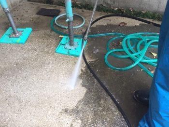 横浜市栄区戸建住宅 土間高圧洗浄