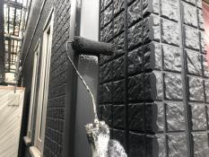 横浜市港北区G様邸竪樋上塗り2回目