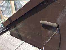 破風塗装 シリコン上塗り2回目