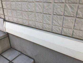 横浜市港北区G様邸水切り塗装前