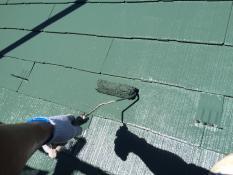 横浜市栄区A様邸屋根上塗り2回目