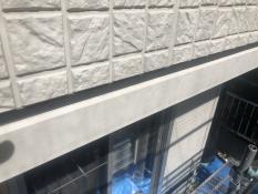 横浜市港北区G様邸軒天見切縁塗装前