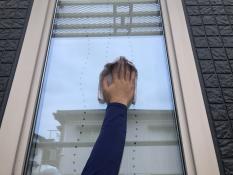 横浜市港北区G様邸窓拭き