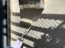 横浜市金沢区H様邸外壁上塗り2回目