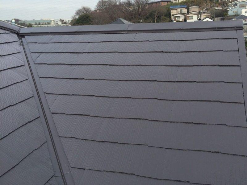 横浜市保土ヶ谷区S様邸屋根塗装施工後