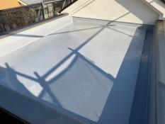 屋上 防水 上塗り2回目