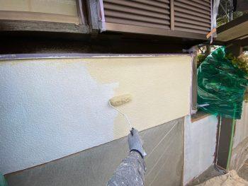 横浜市栄区Y様邸外壁上塗り1回目