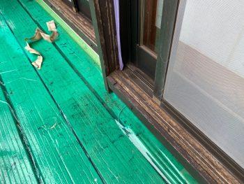 横浜市栄区Y様邸木枠塗装前