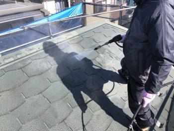 横浜市栄区F様邸屋根高圧洗浄