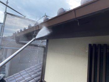 横浜市栄区Y様邸破風高圧洗浄