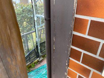 横浜市栄区Y様邸コーナー飾り柱塗装前