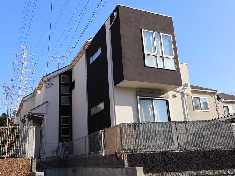 横浜市栄区K様邸インディフレッシュセラ外壁塗り替え