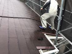横浜市栄区K様邸屋根高圧洗浄