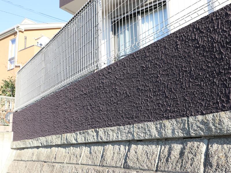 横浜市栄区K様邸インディフレッシュセラ塀塗装後