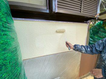 横浜市栄区Y様邸外壁上塗り2回目