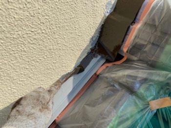 横浜市栄区Y様邸下屋根壁際板金上塗り1回目