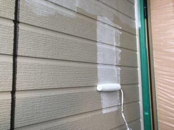 横浜市栄区F様邸ダイヤモンドコート外壁塗装下塗り