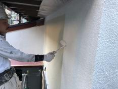 横浜市港南区N様邸外壁塗装下塗り