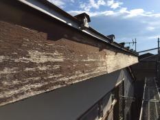横浜市港南区N様邸破風塗装施工前