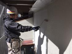 横浜市港南区N様邸外壁塗装上塗り1回目