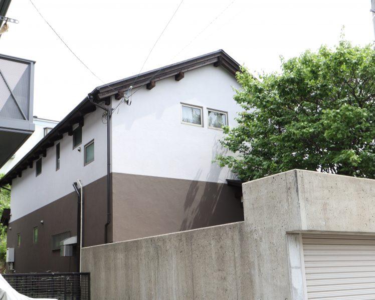 横浜市栄区S様邸インディフレッシュセラ外壁塗装後