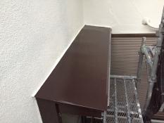 横浜市港南区N様邸霧除け庇塗装施工後