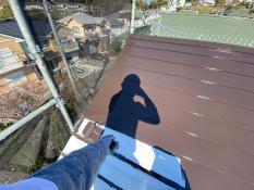 横浜市栄区S様邸屋根上塗り1回目