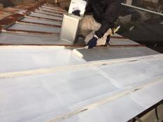 横浜市港南区N様邸屋根塗装下塗り