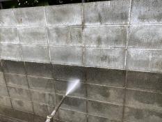 横浜市栄区S様邸塀高圧洗浄