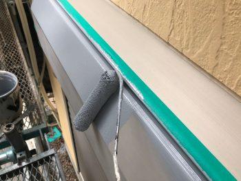 横浜市西区K様邸シャッターボックス 錆止め塗装