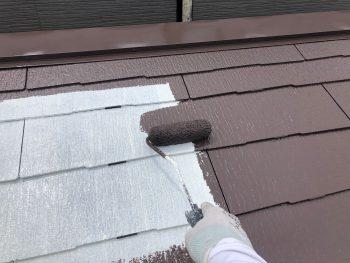 横浜市西区K様邸屋根 上塗り塗装1回目