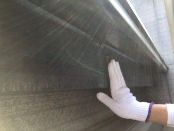 横浜市南区Y様邸破風塗装前ケレン作業