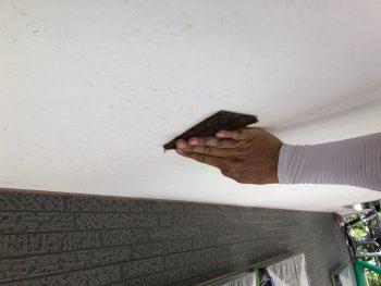横浜市南区Y様邸軒天塗装前ケレン作業