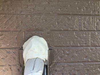 横浜市南区Y様邸外壁塗装後エアコンパテ