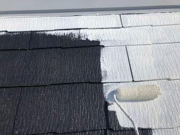 横浜市西区K様邸屋根 下塗り塗装2回目