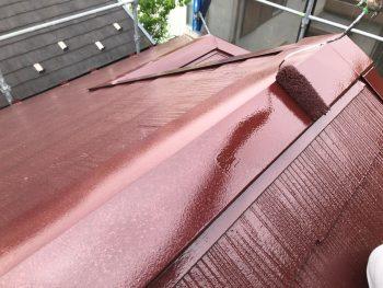 横浜市南区Y様邸棟板金塗装上塗り2回目