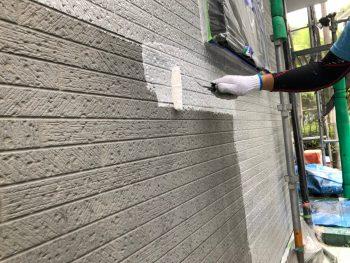 横浜市南区Y様邸外壁塗装下塗り