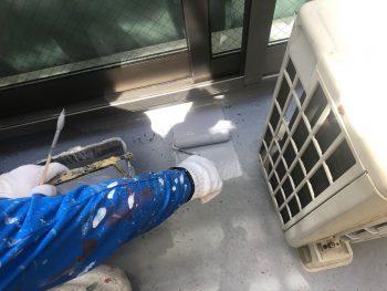 横浜市西区K様邸FRP防水 上塗り1回目