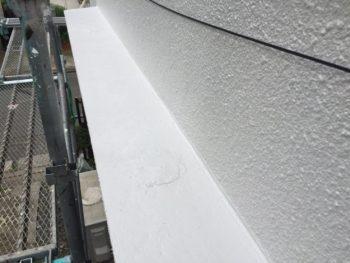 横浜市南区M様邸庇天端塗り替え施工後