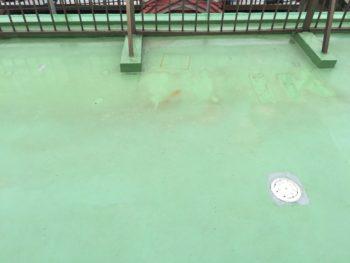 横浜市南区M様邸屋上ウレタン防水施工前