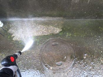 横浜市南区M様邸住宅塗り替え前高圧洗浄作業