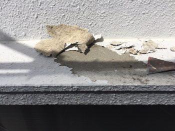 横浜市南区M様邸庇天端塗り替え前下地処理