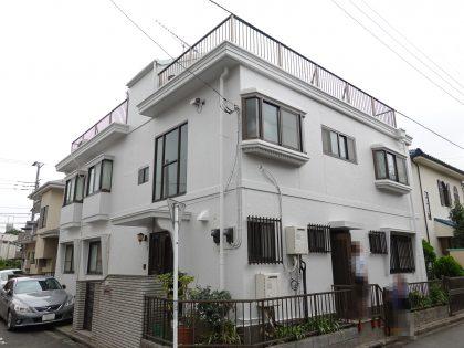 横浜市南区M様邸施工事例|外壁塗装と屋上ウレタン防水
