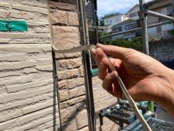 横浜市磯子区Y様邸シーリング打ち替え作業