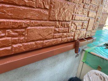 横浜市磯子区Y様邸水切り塗装工事中