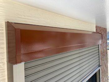 横浜市磯子区Y様邸シャッターボックス塗り替え完了