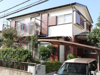 横浜市栄区F様邸施工事例|超低汚染リファインSi-IR外壁塗装
