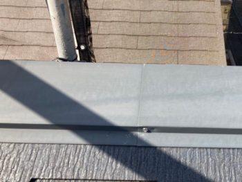 横浜市港南区N様邸屋根棟板金塗装前
