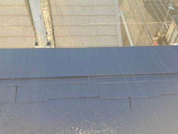 横浜市港南区N様邸屋根棟板金塗装完了画像